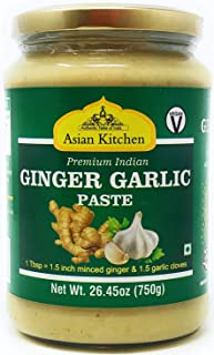 Asian Kitchen Ginger-Garlic Cooking Paste 26.5oz (750g) ~ Vegan | Glass Jar | Gluten Free | NON-GMO | No Colors | Indian O...
