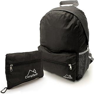 U6699 Mochila Plegable Bolsa Ultraligera para Camping, Senderismo,Trekking, Viajes, Vacaciones, Daypack y otras Actividades al Aire Libre - Negro - 16 Litros
