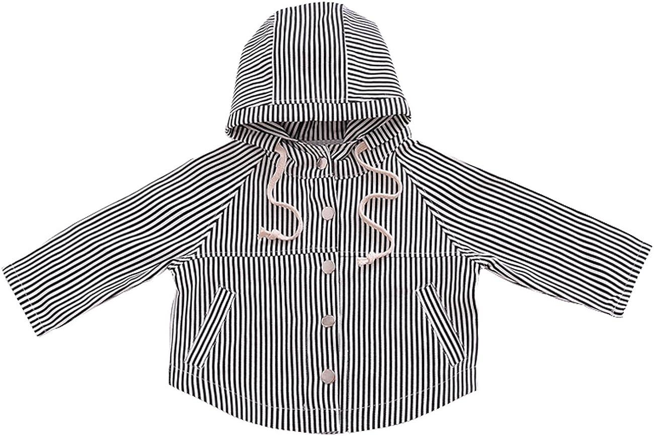 Ding Dong Baby Kid Boy Hooded Zipper Alternative dealer Striped Miami Mall Girl Jacket