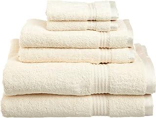 Superior 100% Long Staple Combed Cotton Towel Set, 6 PC, Ivory, 6 Piece