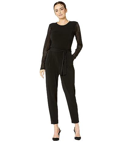 MICHAEL Michael Kors High Neck Mesh Combo Jumpsuit (Black) Women