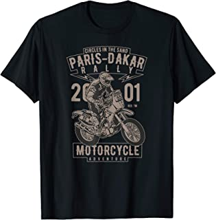 Paris-Dakar rally motorcycle adventure off-road t-shirt