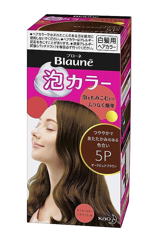 隠された登るライム【花王】ブローネ泡カラー 5P ダークピュアブラウン 108ml ×20個セット