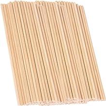 F Fityle Verschillende maten Onafgewerkte hout ronde lege houten stok deuvels staaf voor houtbewerking DIY Model ambachtel...