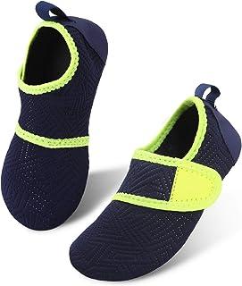 JIASUQI Beach Running Surf Water Shoes for Kids Boys Girls Easy Navy US 3-4 M Toddler
