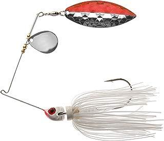 MegaStrike Strike Back Spinner Bait (3/8-Ounce, Red/Nickel Blade White Skirt)
