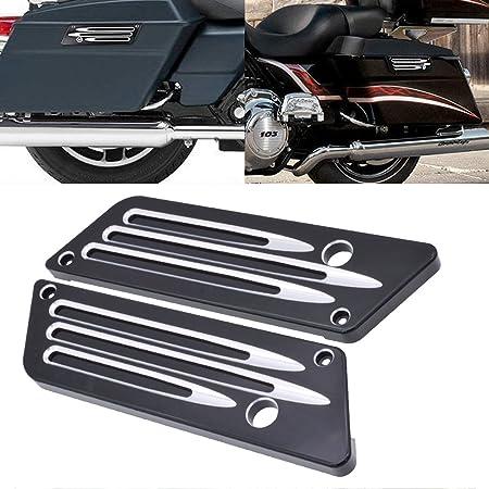 Katur Schwarz Satteltaschendeckel Lifter Kit Für Harley Touring Street Glide Ultra Begrenzte 2014 2015 2016 2017 Auto