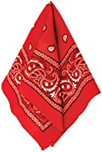 Amscan 255561 Paisley Red Bandana, 1ct