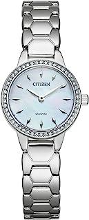 Citizen Women's Quartz Stainless Steel Strap, Silver, 12 Casual Watch (Model: EZ7010-56D)
