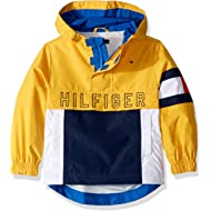 Tommy Hilfiger Boys' Adaptive Hooded Popover Jacket with Extended Zipper Pull