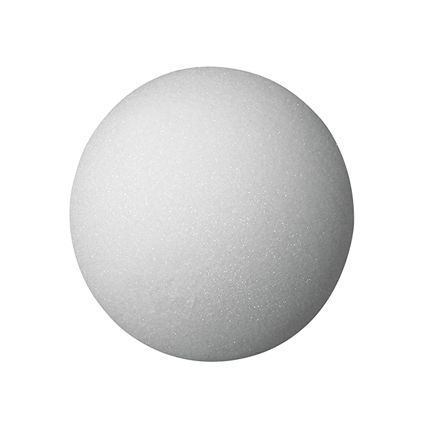 School Specialty FloraCraft Styrofoam Ball, 2 Inches, White, Pack of 12 - 363617