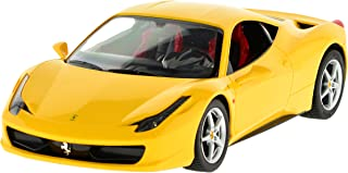 Carmel 1:14 Ferrari 458 Italia 2.4Ghz with Lights Rechargeable Battery, Yellow