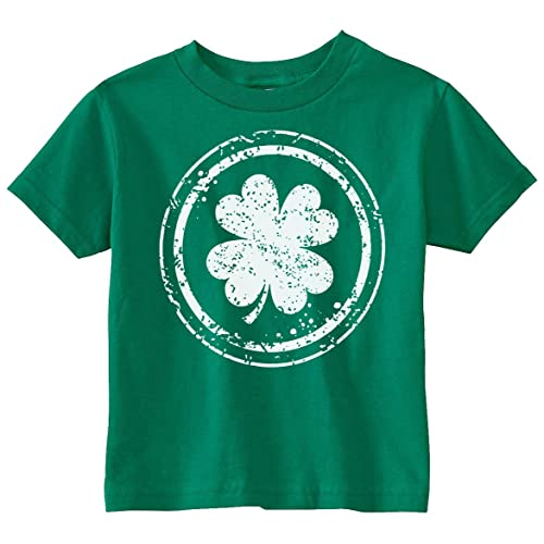 937004104 Custom Kingdom Baby Boys Girls Shamrock Four Leaf Clover St Patricks Day  T-Shirt