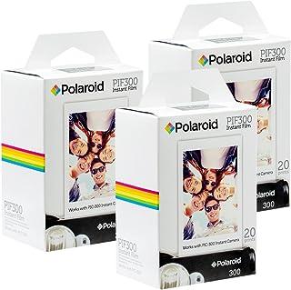 Película Instantánea Polaroid PIF300: diseñada para usar con cámaras Fujifilm Instax Mini y PIC 300 (60 hojas)