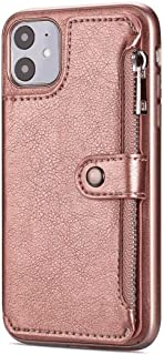 Stylish Cover Compatible with iPhone XR, rose gold Leather Flip Case Wallet for iPhone XR