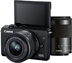Canon EOS M200 Mirrorless Camera, EF-M15-45mm f/3.5-6.3 is STM and EF-M55-200mm f/4.5-6.3 is STM Lens, 24.1 MP, 16 GB Memo...