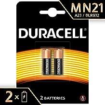 Pile alcaline Duracell spéciale MN21 12V, pack de 2 ( A23 / 23A / V23GA / LRV08 / 8LR932 ), conçue pour une utilisation dans les télécommandes, sonnettes de porte sans fil et systèmes de sécurité
