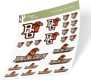 Bowling Green State University BGSU Falcons NCAA Sticker Vinyl Decal Laptop Water Bottle Car Scrapbook (Type 1-1 Sheet)
