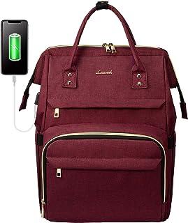 Zaino Laptop Donna, LOVEVOOK Impermeabile Zaino porta PC 15.6 Pollici, Zaino per Computer con Caricatore USB, Zaino Univer...