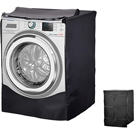 Housse imperméable pour machine à laver ou sèche-linge, adaptée à la plupart des machines à laver et sèche-linge avec hublot (comme sur la photo)