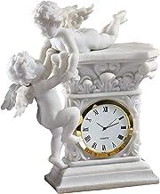 Design Toscano WU74349  Baroque Twin Cherubs Desktop Clock,white