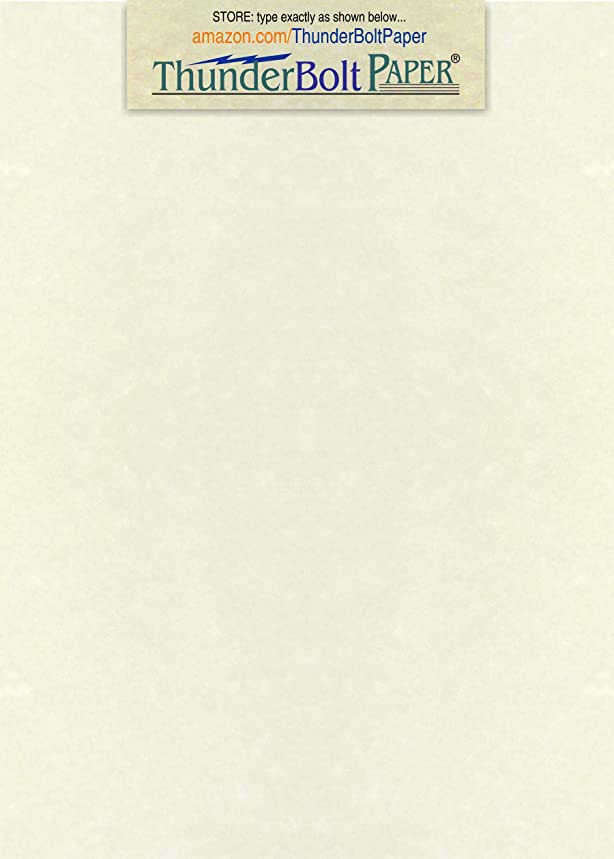 200 Soft White Parchment 60# Text (=24# Bond) Paper Sheets - 5.5 X 8.5 Inches Half Letter   Statement Size Size - 60 Pound is Not Card Weight - Vintage Colored Old Parchment Semblance