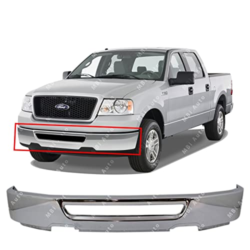 mbi auto - chrome steel, front bumper face bar shell for 2006 2007 2008 ford