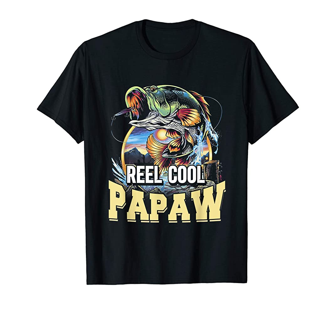 Vintage Reel Cool Papaw T-Shirt Fishing Father's Day
