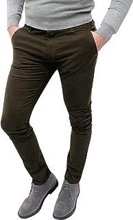 Evoga Pantaloni Casual Uomo Invernali Slim Fit