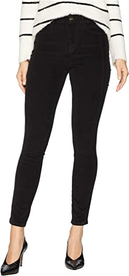 Stiletto High-Rise Ankle Skinny in Jet Black