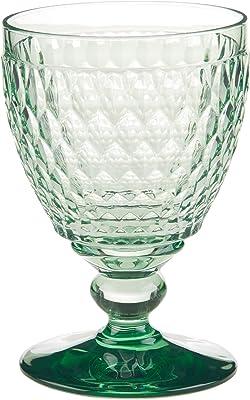 Villeroy & Boch Boston Green Crystal Goblets, Set of 4