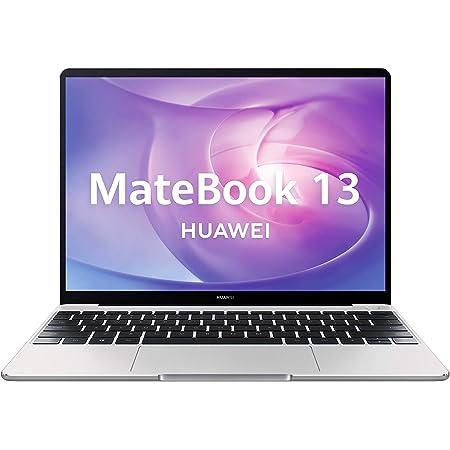"Huawei Matebook 13 - Ordenador portátil Ultrafino 13"" 2K (Intel Core i5-8250U, 8GB RAM, 512GB SSD, Nvidia GeForce MX250, Windows 10 Home) Mystic Silver - Teclado QWERTY Español, Plateado"