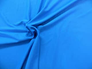 Swatch Sample Discount Fabric Polyester Lycra Spandex 4 Way Stretch Peacock Blue LY820