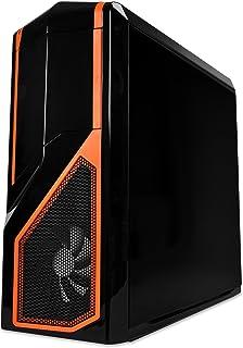 NZXT Phantom 410 - Caja de Ordenador de sobremesa (2 x USB 2.0, 2 x USB 3.0, Ventana Lateral), Negro y Naranja