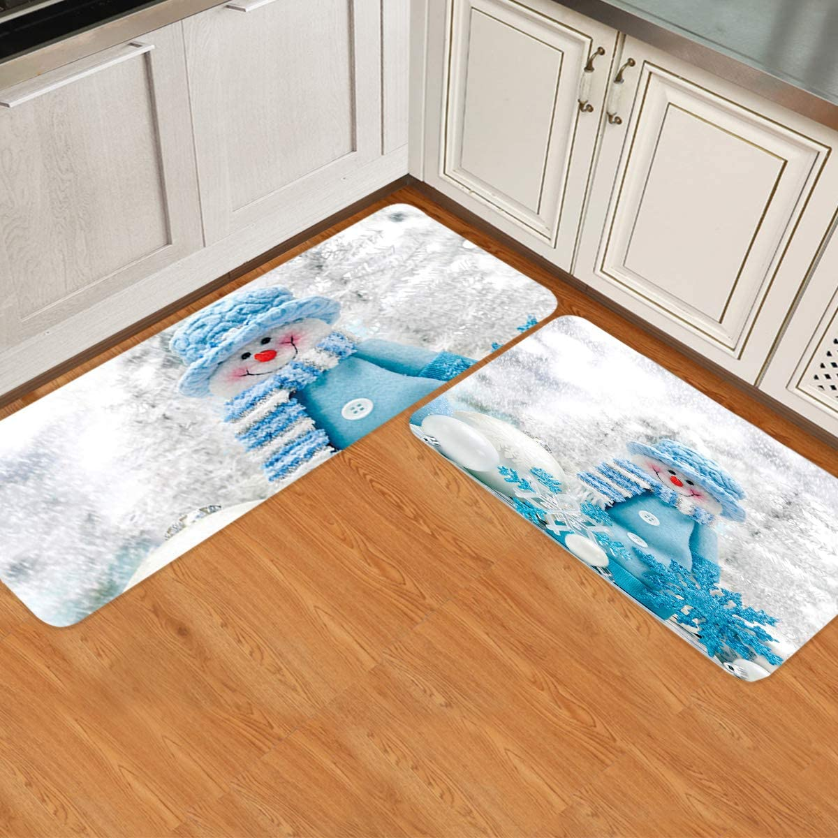 Prime Leader 2 Piece Non-Slip Kitchen Mat Doormat Runner Set Rug Max Translated 68% OFF