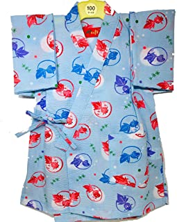 甚平 子供 日本製 キッズ 女の子 男の子 金魚 さかな 浴衣 リップル 甚平セット かわいい 柄甚平 和柄 ベビー甚平 夏 ベビー 女児 男児 幼児 園児 小学生 赤ちゃん