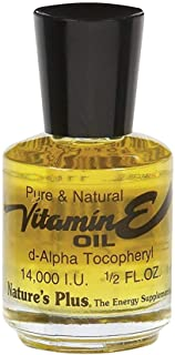 NaturesPlus Vitamin E Oil - 14,000 IU.5 fl oz - Moisturizes Face and Skin, Reduces Brown Spots, Strengthens Nails, Promote...