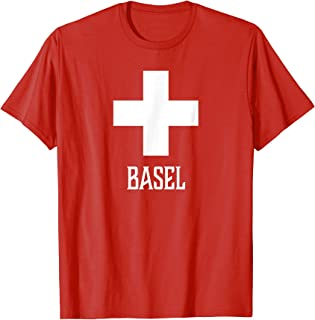 Basel, Switzerland - Swiss, Suisse Cross T-shirt