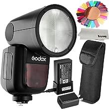 Godox V1O 76Ws 2.4G TTL Camera Flash Speedlight Compatible for Olympus/Panasonic Cameras,5600±200k, 480 Full Power Shots, 1.5 sec. Recycle Time,Rechargeable 7.2V 2600mAh Li-ion Battery