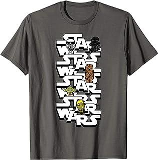 Star Wars Logo Darth Vader Yoda Kawaii Characters T-Shirt