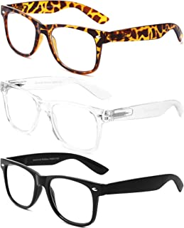 3 Pack Blue Light Blocking Reading Glasses,Spring Hinge Computer Readers with Blue Filter for Mens and Womens
