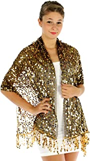 Sheer-Delights Sequin Evening Wrap Shawl for Prom Wedding Formal