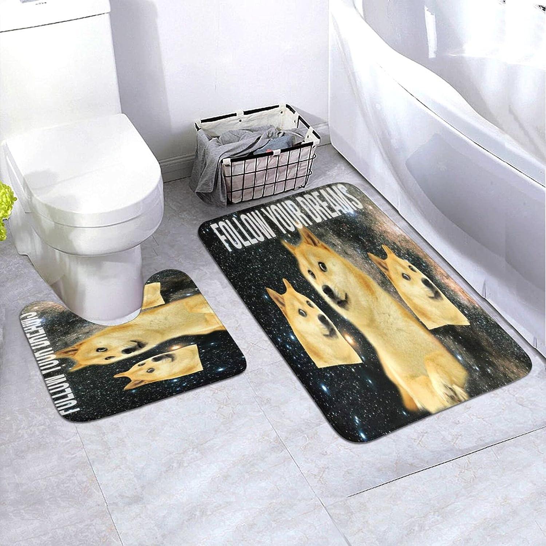 BUERYUZ Max 45% OFF Mat Silicone Toilet 2-Piece Foll Ranking TOP19 Doorway 24×35.4inch