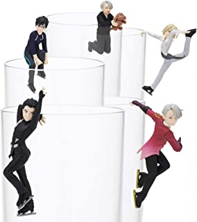 Kitan Club Putitto Yuri on Ice Cup Toy - Blind Box Includes 1 of 5 Collectable Figurines - Hangs on Thin, Flat Edges - Authentic Japanese Design - Made from Durable Plastic