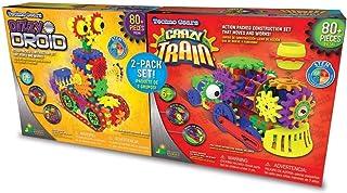 Techno Gears Motorized Construction Sets (2 Pack Set) - Dizzy Droid & Crazy Train