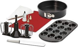 Krups XF5560 Prep&Cook Set d'accessoires Noir/blanc/rouge
