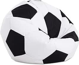 textil-home Football-Puff Balón Pelota Futbol de Puff, Doble Repunte, 90 cm Diametro