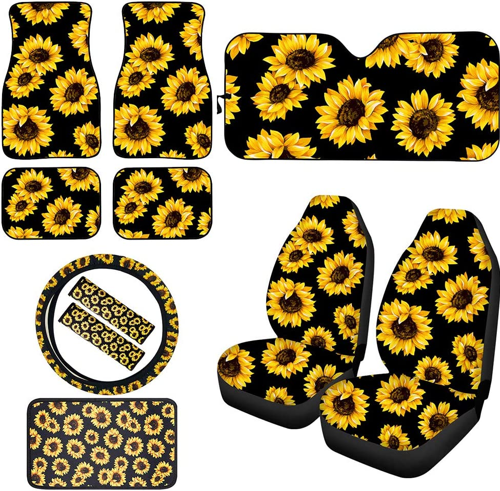BIGCARJOB Sunflower Car Max 48% OFF Accessiores 11pcs Bucket Set Front Special Campaign Full