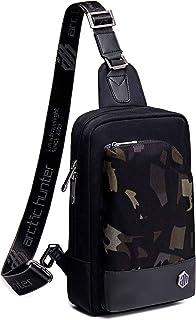 Bolsa de pecho, mochila bandolera, bandolera, bolsa de deporte, compatible con hombres, jóvenes, para viajes, trabajo, dep...