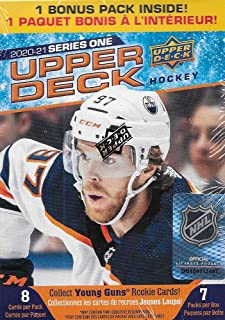 2020 2021 Upper Deck Hockey Series One Factory Sealed Unopened Blaster Box of 8 Packs Possible Young Guns Rookies and Jerseys